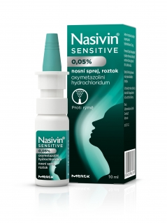 Nasivin Sensitive 0.05% nas.spr.sol.1x10ml/5mg